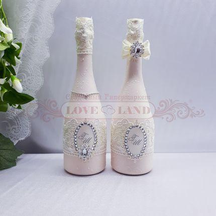 Декор свадебных бутылок - артикул 02