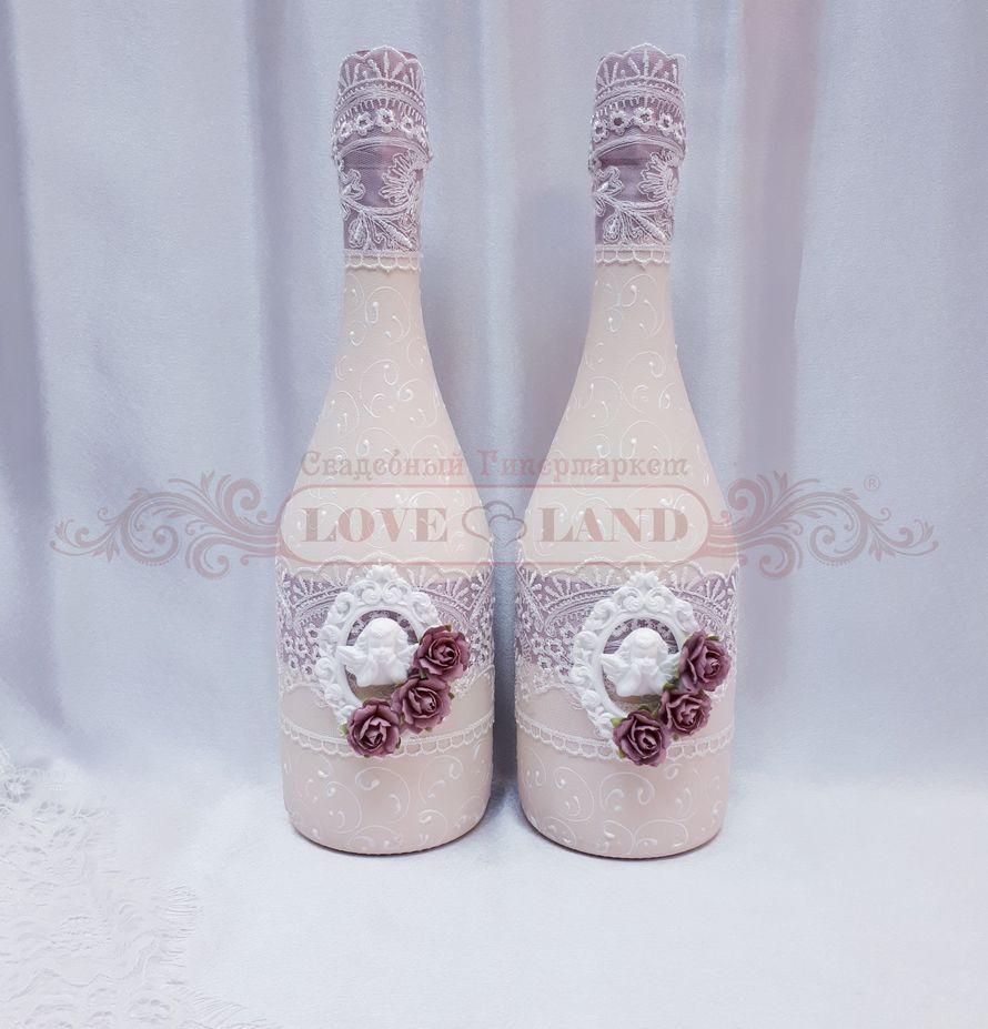 Декор свадебных бутылок - артикул 14