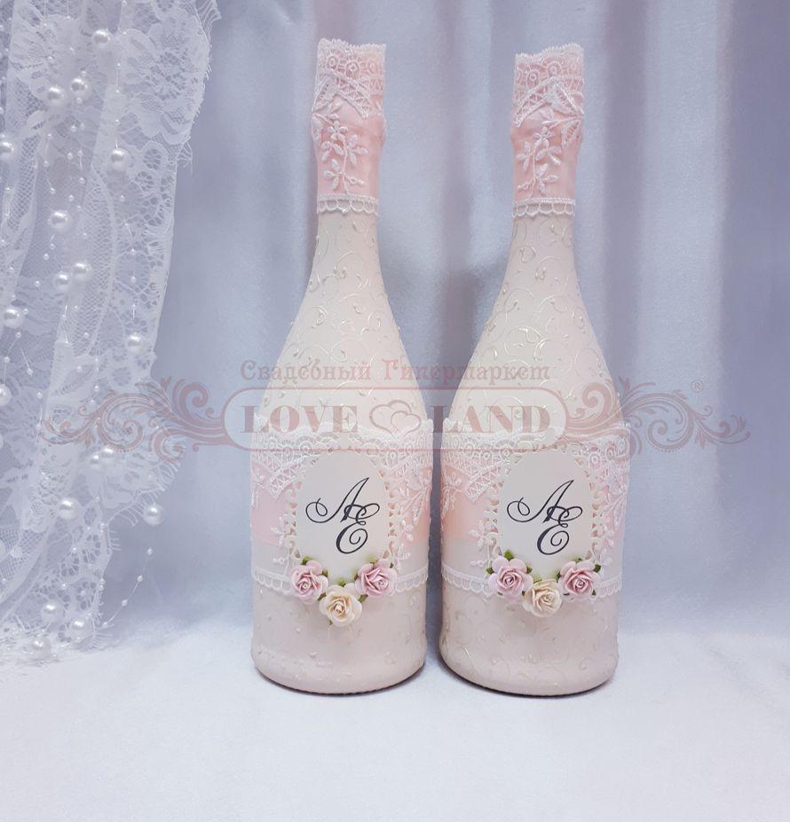 Декор свадебных бутылок - артикул 21