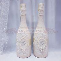 Декор свадебных бутылок - артикул 20
