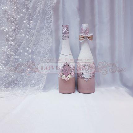 Декор свадебных бутылок - артикул 19