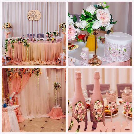 Оформление пудровой свадьбы