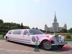 """Экскалибур Фантом бело-розовый - фото 206 """"Ника"""" - свадебные лимузины и авто"""