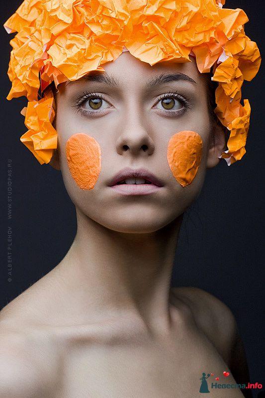 Фото 109931 в коллекции Творческие make-up работы - Хабарова Марина - прическа и макияж на свадьбу