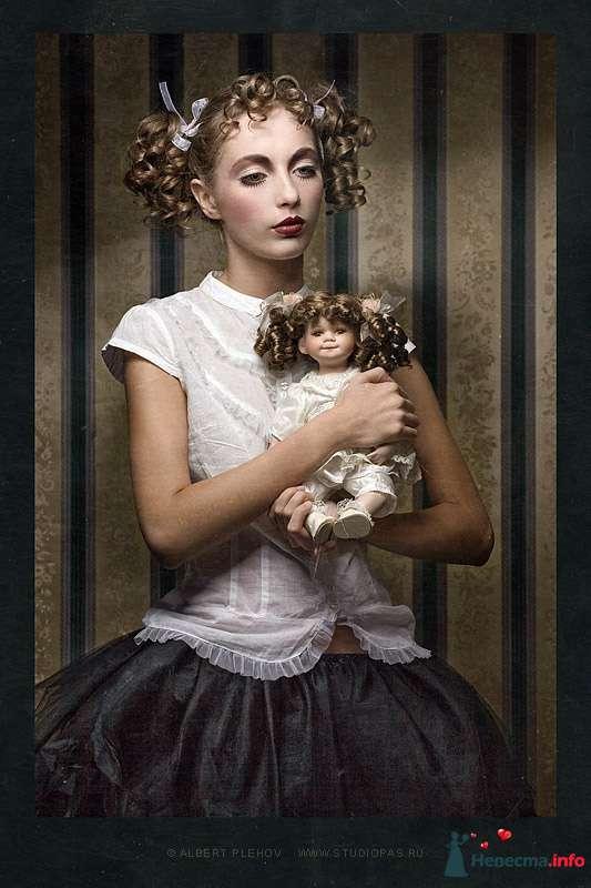 Фото 109933 в коллекции Творческие make-up работы - Хабарова Марина - прическа и макияж на свадьбу