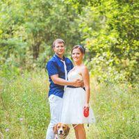 собака на свадебной прогулке