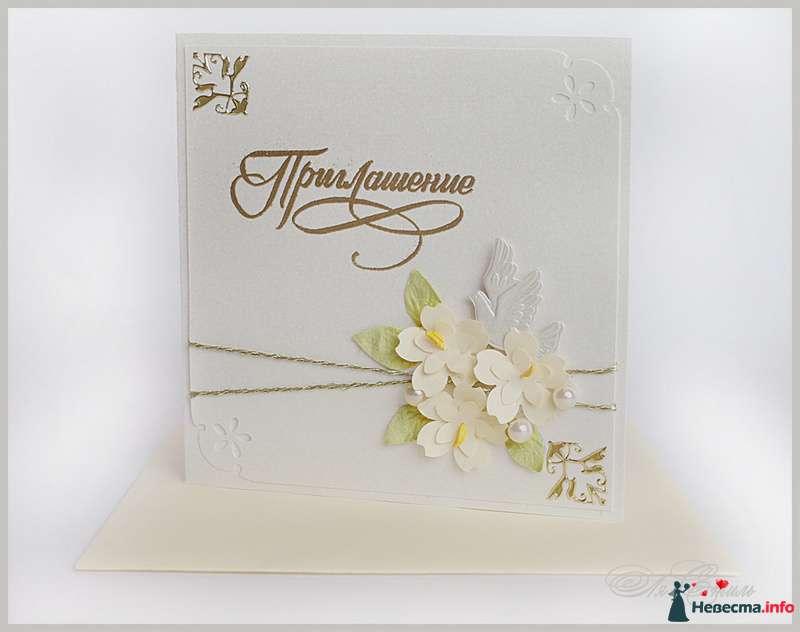 Приглашение на свадьбу - фото 109896 Ля Стиль - цветы и подарки