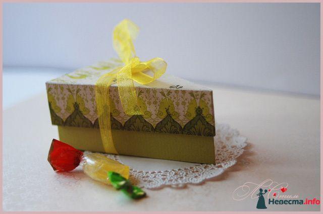 """Бонбоньерка """"Кусочек лаймового торта"""" - фото 110141 Ля Стиль - цветы и подарки"""