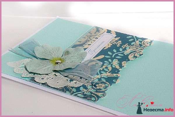 """Приглашение """"Мятная прохлада"""" - фото 124961 Ля Стиль - цветы и подарки"""