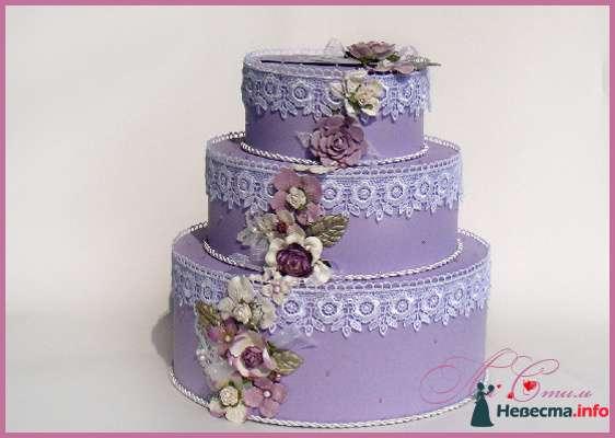 """Казна для денег - Торт """"Лавандовый букет невесты"""" - фото 129746 Ля Стиль - цветы и подарки"""