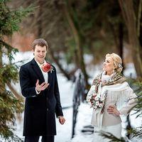 зимняя свадьба. фотосессия в стиле рустик