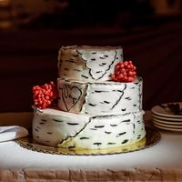 Свадебный торт стиль рустик