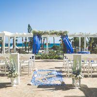 Оформление церемонии в морском стиле. Синий кобальт.