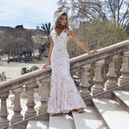 Кружевное свадебное платье-русалка, ND228