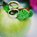 Зелёное яблоко с кольцами