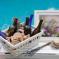 бутылки, вино, пробки, лаванда,фотозона