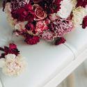 акварель, утро невесты, полиграфия, бордо, бордовый, марсала, marsala, розы, гвоздики, декор