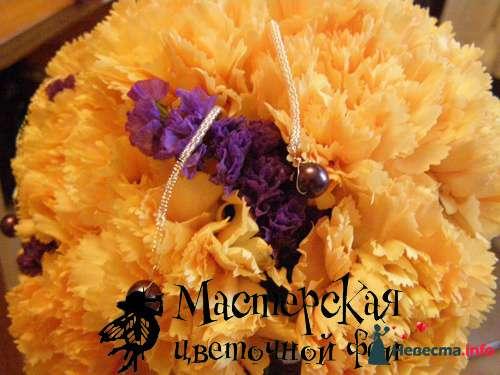 Круглый букетик. В основе - гвоздика - фото 121640 Мастерская цветочной феи - цветы