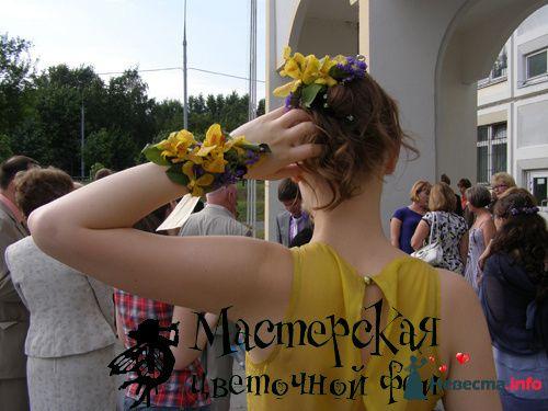 Заколка в волосы, браслет - фото 121676 Мастерская цветочной феи - цветы