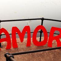 Большие алые буквы AMOR с испанским темпераментом :) (наша работа) 1 день аренды - 300 р.