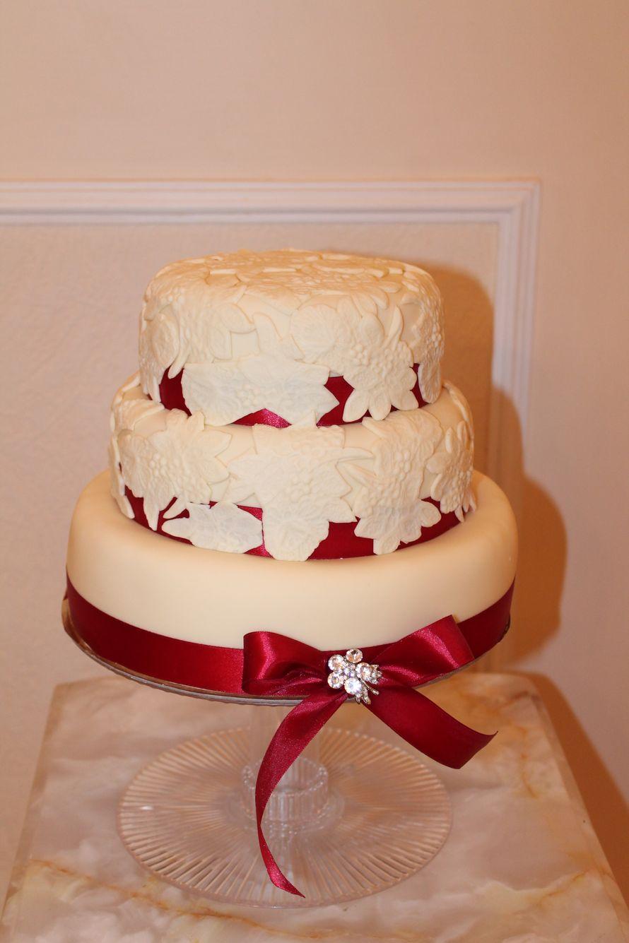Фото 1407049 в коллекции торты - Иннэсса - свадебные торты из мастики