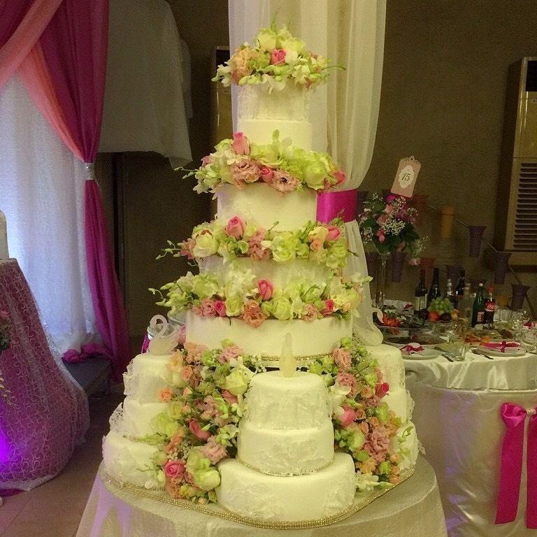 Фото 12260912 в коллекции торты - Иннэсса - свадебные торты из мастики