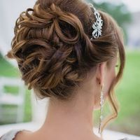 Свадебный макияж и причёска от визажиста-стилиста Вероники Харламовой