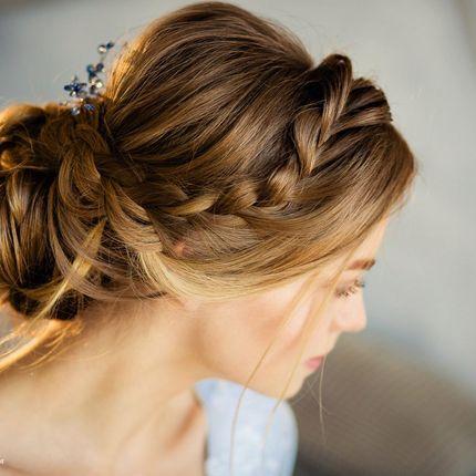 Свадебная причёска с плетением