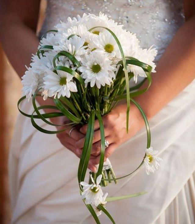 Букет невесты из ромашек круглый моск