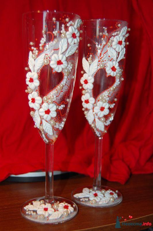Фото 131073 в коллекции Свадебные бокалы с лепкой!!!! - Кетлин - свадебные бокалы