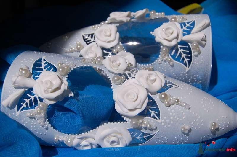 Фото 131076 в коллекции Свадебные бокалы с лепкой!!!! - Кетлин - свадебные бокалы
