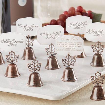 Именные карточки для осенней свадьбы