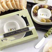Фарфоровая тарелочка для олив