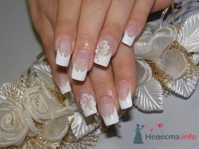 """Фото 10390 в коллекции Наращивание ногтей. Ногти на свадеьбу, торжество и на каждый день. - Студия свадебной моды """"Артрина"""""""