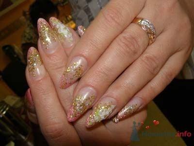 Фото 10392 в коллекции Наращивание ногтей. Ногти на свадеьбу, торжество и на каждый день.