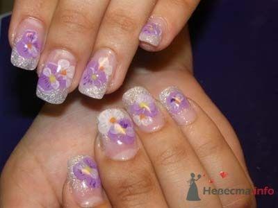 Фото 10398 в коллекции Наращивание ногтей. Ногти на свадеьбу, торжество и на каждый день.