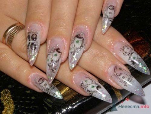 """Фото 10399 в коллекции Наращивание ногтей. Ногти на свадеьбу, торжество и на каждый день. - Студия свадебной моды """"Артрина"""""""