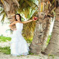 свадебная фотосессия на  пляже Хуанийо, Доминикана