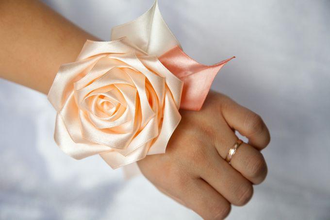 Украшения для подружек невесты из лент