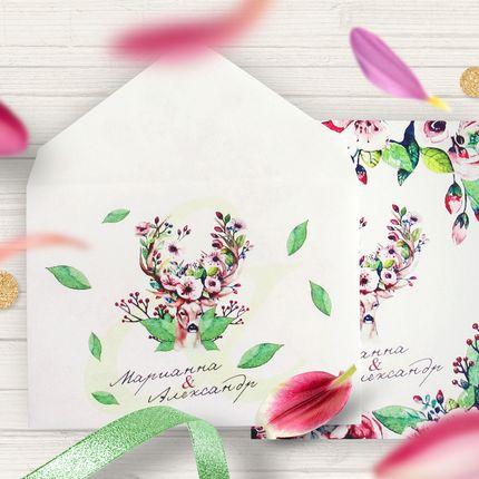 Свадебное приглашение, арт. 0044, цена за 1 шт