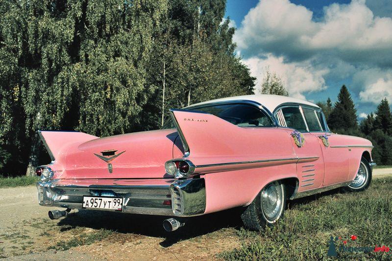 """Розовый """"Cadillac Eldorado"""" на фоне лесной полосы. - фото 85056 Хлоя"""