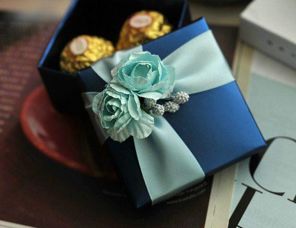 Подарки на свадьбу синие
