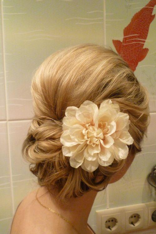 Прическа свадьба на волосы до плеч