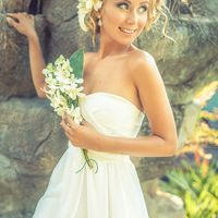 Свадебный макияж. Свадебная прическа.