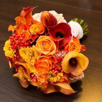 Осенний свадебный букет