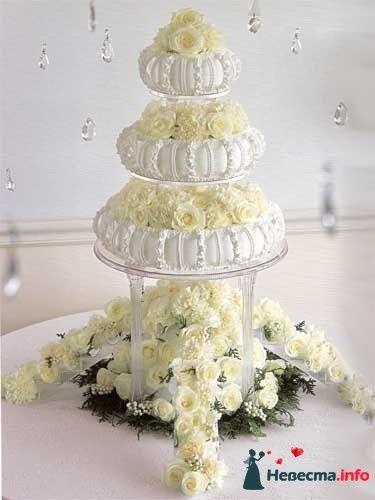 """Фото 128179 в коллекции Свадебные торты - """"Мир Любви"""" - студия свадебных услуг"""