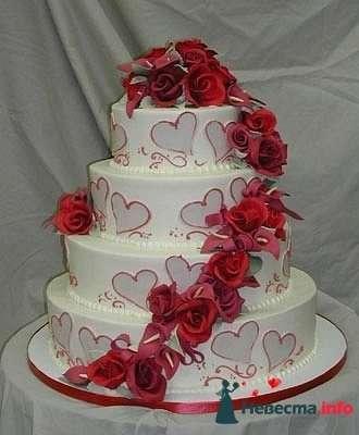 """Фото 128193 в коллекции Свадебные торты - """"Мир Любви"""" - студия свадебных услуг"""