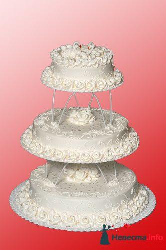 """Фото 128237 в коллекции Свадебные торты - """"Мир Любви"""" - студия свадебных услуг"""