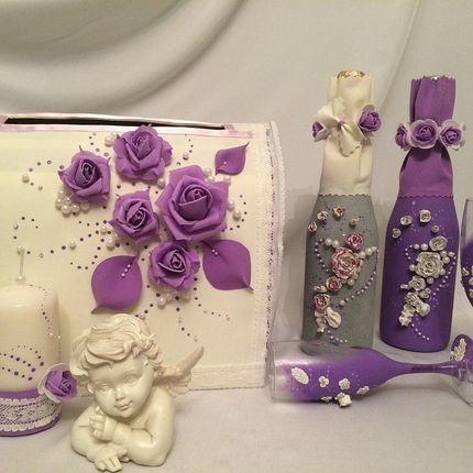 Свадебный набор на стол молодых
