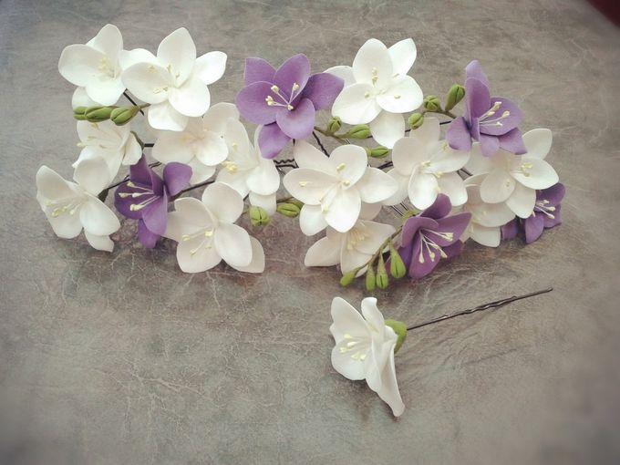 Цветы на шпильки из фоамирана мастер класс